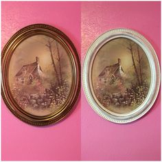 Re-vamp of an old picture with a white wash paint for a Shabby Chic look!
