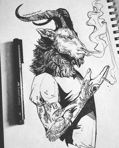 Wolfskulljack on deviantart. reminds me of brimstone tattoo drawings Dark Art Drawings, Cool Drawings, Tattoo Drawings, Drawing Sketches, Tatoo Art, Body Art Tattoos, Widder Tattoos, Satanic Art, Tattoo Ideas