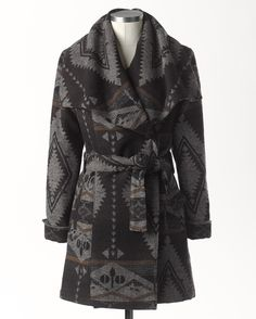 Azteca Belted Coat by Coldwater Creek