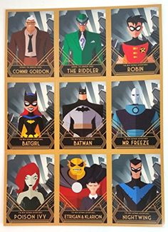 DC Comics Batman Robin Batgirl Poison Ivy NIghtwing Sheet of Cards 7.5 x 10.5 inches Comic Con 2 @ niftywarehouse.com #NiftyWarehouse #Geek #Gifts #Collectibles #Entertainment #Merch
