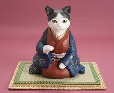 Japanese Cat, Japanese Toys, Crazy Cat Lady, Crazy Cats, Asian Doll, Maneki Neko, Cat Doll, Cat Design, Cat Art