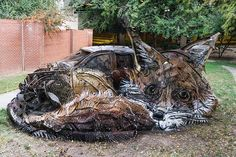 Bordalo II for The Unexpected - Fox, Garrison Avenue, Forth Smith, Arkansas, 2016