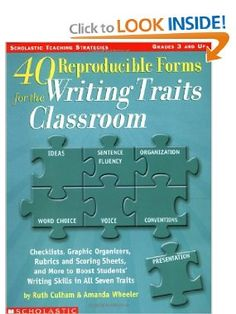 40 Reproducible Forms for the Writing Traits Classroom (Scholastic Teaching Strategies, Grades 3 and Up): Ruth Culham, Amanda Wheeler: 9780439556842: Amazon.com: Books