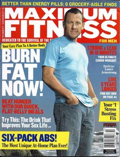 Maximum Fitness magazine Lance Armstrong Ultimate cardio workout Healthy recipes