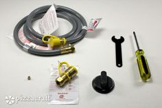 Natural Gas Conversion Kit parts - convert your propane-powered portable pizza oven to natural gas with this pizzacraft kit