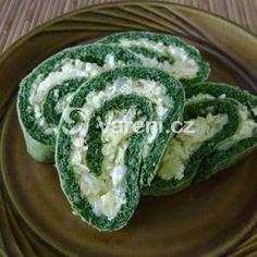 Vynikající slaná roláda pro milovníky špenátu. Cucumber, Zucchini, Pasta, Bread, Vegetables, Cooking, Ethnic Recipes, Food, Birthday