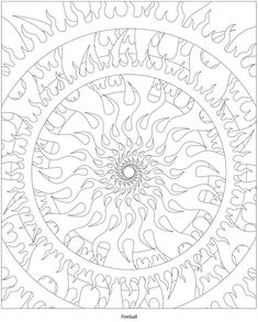A very fiery mandala! From Dover Publications http://www.doverpublications.com/zb/samples/493148/sample5b.htm