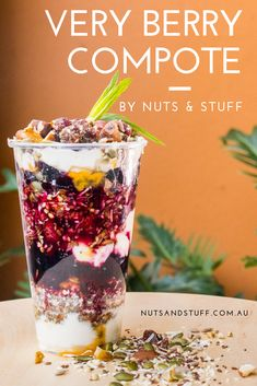 This week discover Nuts & Stuff's Very Berry Compote recipe. Quick to make and so good, you'll love the taste and texture.  It's gluten-free and it's incredibly versatile. Goes beautifully with your muesli, yogurt cup, dessert, scones, ice cream and even cheesecake. Yum! You can't get enough!  Try it out today. And, don't forget to hashtag #nutsaboutmuesli if you feel like giving us a shout out. . . . #berrycompote #recipe #glutenfree #nutsandstuff #goodfood Compote Recipe, Berry Compote, Yogurt Cups, Muesli, Scones, Glutenfree, Acai Bowl, Don't Forget, Berries