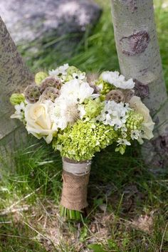 Green and Grey wedding bouquet.