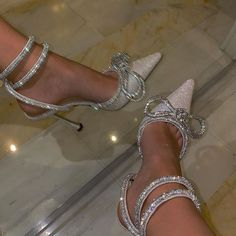 If You're a Shoe Person, Prepare to Gawp at These Cinderella Shoes Shoes Sneakers, Shoes Heels, Cinderella Shoes, Hype Shoes, Wedding Heels, Silver Shoes, Dress And Heels, Luxury Shoes, Womens High Heels