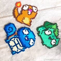 Goldfish Perler Beads by ArcticBunnies Pyssla Pokemon, Pokemon Perler Beads, Diy Perler Beads, Perler Bead Art, Pearler Beads, Fuse Beads, Perler Bead Templates, Pearler Bead Patterns, Perler Patterns
