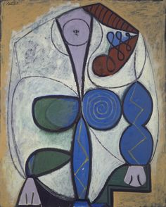 Pablo Picasso (Spanish, 1881–1973), Seated Woman (Femme assise), 1947. Oil On…