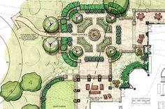 courtyard garden layout