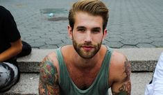 The tattooed man is a dark, passionate mystery. Where can I get me one of these men, lol 24 reasons to date a tattooed man Bad Boys, Hugo Boss, Gq, Life Is Beautiful, Beautiful People, Beautiful Boys, Gorgeous Men, Le Male, Hommes Sexy