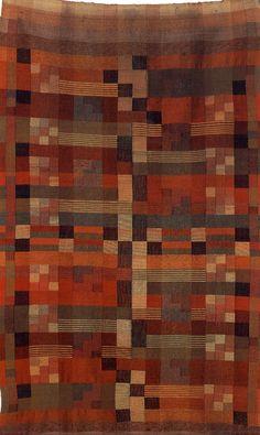 bauhaus textiles ¤ Benita Koch-Otte (1892-1924) Wandbehang, Bauhaus Weimar, 1924 Halbgobelin, Baumwolle, Wolle 175,5 x 110 cm Inv.Nr. XII/7516