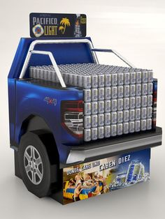Pacifico Cardboard Display by Ricardo García at Coroflot.com #tailgate: