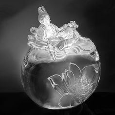 Liuli Crystal Fulfillment of the Lotus   PED215.ADAAZ $950.00
