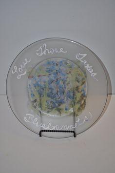 Bluebonnet Plate by AnotherTessCreation on Etsy, $10.00