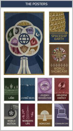 """EPCOT Center 30th Anniversary Poster Art"" on Kickstarter: Minimalist silk screened posters to celebrate 30 years of the most innovative Disney park."
