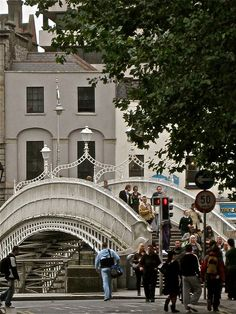 Ha'Penny Bridge - Dublin--Kyle and I walked over this bridge many times when we were in Dublin!!