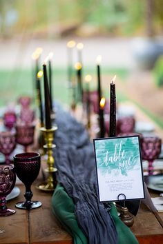 jewel tone garden wedding inspiration | Solie Designs | Glamour & Grace