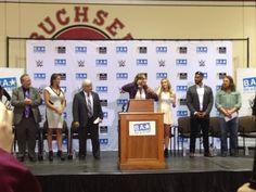 #WWE Superstars Stephanie McMahon & Daniel Bryan visit Santa Clara school to share anti-bullying message with students.