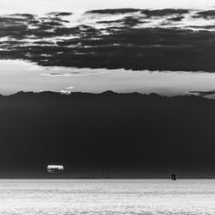 Øresund Sunset http://mabrycampbell.com #image #photo #sweden #seascape #sunset #blackandwhite #mabrycampbell #Øresund #water #sun #photography