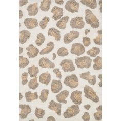 Hand-Tufted Zarah Leopard Microfiber Shag Rug (2'3 x 3'9) - Overstock™ Shopping - Great Deals on Alexander Home Accent Rugs