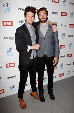 DAN AND KYLE ARE WEARING SUITS AND I AM REJOICING