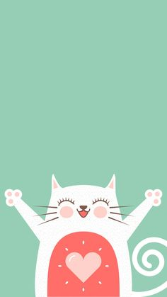56 Ideas wall paper phone simple animals for 2019 Cocoppa Wallpaper, Cat Wallpaper, Animal Wallpaper, Mobile Wallpaper, Pattern Wallpaper, Tumblr Backgrounds, Iphone Backgrounds, Funny Cute Cats, Funny Happy