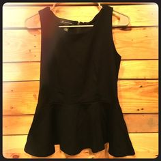 Black Peplum Top Size medium, black peplum top from INC. Made of a nice fabric with some stretch in it to give it a perfect fit. INC International Concepts Tops Tank Tops