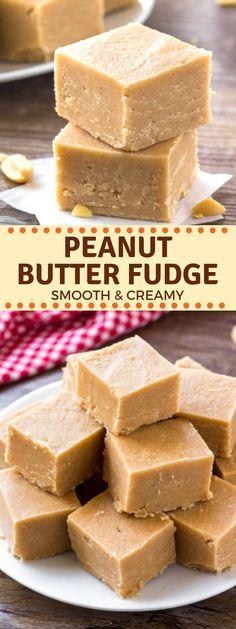 Best Peanut Butter Fudge, Microwave Peanut Butter Fudge, Peanut Butter Candy, Homemade Peanut Butter, Peanut Butter Recipes, Creamy Peanut Butter, Fudge Recipes, Peanut Butter Fudge Recipe With Powdered Sugar, Easy Candy Recipes