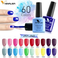 #61508 Free shipping CANNI Venalisa  enamel nail gel polish 60 colors  DIY manicure set uv gel polish gel nail lacquer   Price: 1.71 USD