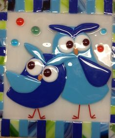 Contemporary Stained Glass Panel Fused Stained by PeaceLuvGlass, $72.00