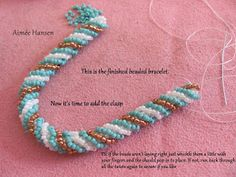 Cubic Right Angle Weave (CRAW) with a twist.  #Seed #Bead #Tutorials
