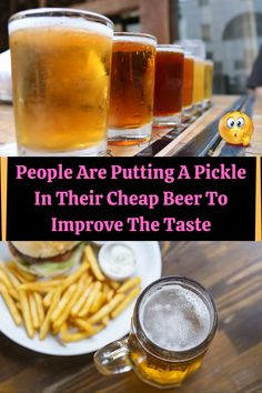 #People #Putting #Pickle #Cheap #Beer #Improve #Taste Cheap Beer, New Years Eve Outfits, Viral Trend, Pinterest Pin, Smokey Eye Makeup, Bottle Crafts, Diy Food, Pickles, Cute Couples