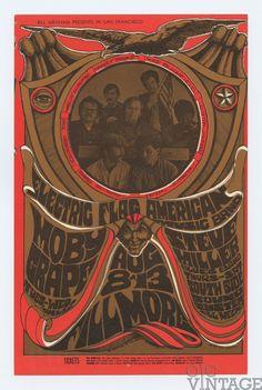 Bill Graham 077 Postcard Steve Miller Band, Moby Grape 1967 Aug 13