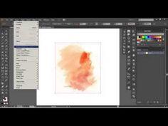 Adobe Illustrator - Advanced Watercolor Vector Tutorial - YouTube