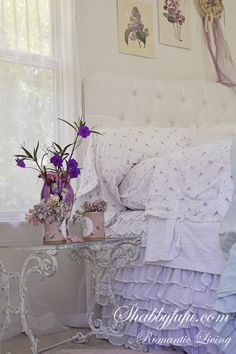 Shabby to Chic: Five Ways to Revamp and Modernize Your Shabby Chic Room - Sweet Home And Garden Shabby Chic Bedrooms, Shabby Chic Cottage, Shabby Chic Homes, Shabby Chic Style, Shabby Chic Decor, Lavender Cottage, Pretty Bedroom, Lilac Bedroom, Beautiful Bedrooms