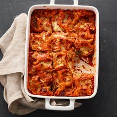 Cremini and Spinach Vegetable Lasagna   Recipes   Weight Watchers