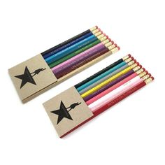 These Hamilton-inspired pencil sets (2 sets of 9 pencils each) are imprinted with 18 lyrics from the beloved Broadway musical *HAMILTON.* You get BOTH