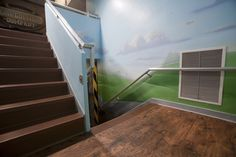 Stairway Worlds of Wow Blog Kids Church, Church Ideas, Worlds Of Wow, Preschool Rooms, Stairways, Ss, Blog, Home Decor, Stairs