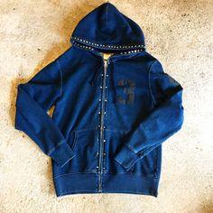 Like to Punks  Indigo hoodie.  I used many many studs.