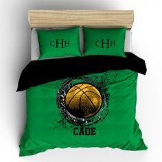 Basketball Splash Monogram Bedding