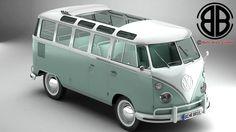 Volkswagen Type 2 Samba 3D Max - 3D Model
