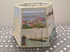 Nantucket Island Postcard Lampshade Vintage by lampshadelady, $55. great holiday guy gift.