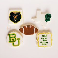 Such cute #Baylor cookies!