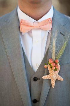 Peach Bow Tie for Men or Boys / Pale Peach by MiaLorenBoutique Beach Wedding Men, Beach Wedding Groomsmen, Wedding Suits, Beach Weddings, Peach Bow Tie, Chambelanes, Beach Wedding Centerpieces, Bohemian Bride, Wedding Album