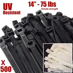 Shop for 14 Inch #Cable Ties - 500 Pack - 75 lbs TENSILE #Strength Nylon #Wire #Wrap Zip Ties with Free #Shipping  #Colors #Black, #White