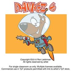 There's just something about dogs... Dawgz 6 includes 18 unique cartoon images of dogs in a variety of humorous situations that will definitely elicit smiles from your students.